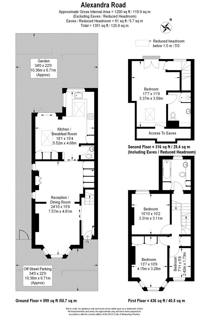 Floorplan for Alexandra Road, Wimbledon